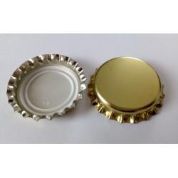 Korunkové uzávery - matná zlatá, 26mm (100ks)